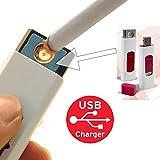 Mechero electrónico incandescente y ecológico sin gas, carga mediante USB