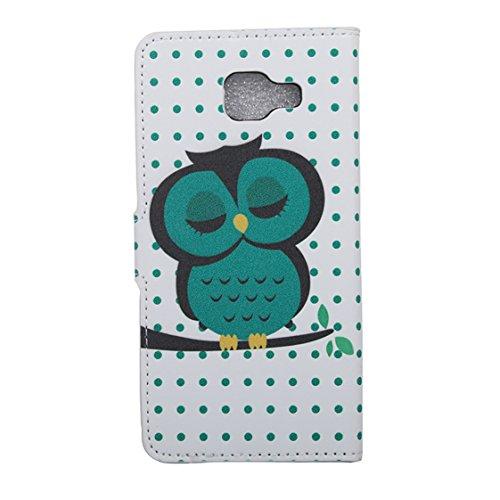AYASHO® PU Leder Wallet Case Folio Schutzhülle für Samsung Galaxy A3(2016) SM-A310F Tasche Hülle Handytasche Etui Schale Backcover Flip Cover im Bookstyle mit Standfunktion Kredit Kartenfächer, (D12) D9