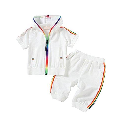 Blaward Baby Jungen Mädchen Casual Anzug Sommer Kleidung Sets Sportbekleidung Mit Kapuze Sport Outfits mit Tasche 2 STÜCKE 1-5Jahre
