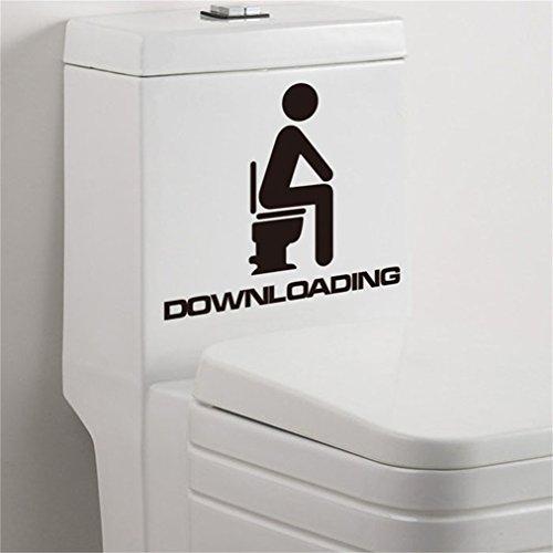 decorie Creative Lovely Herunterladen Wasserdicht Wandtattoo für WC Decor 10* - Ideen Halloween-preis Für Erwachsene