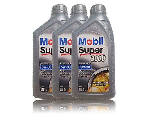 Preisvergleich Produktbild Mobil Super 3000 Formula V 5W-30 Longlife III Motorenöl, 3x 1 Liter …