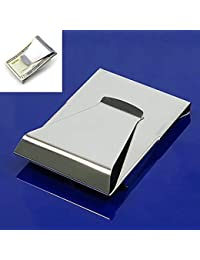 Kitparty Stainless Steel Slim Double Sided Money Clip Credit Card Holder Wallet Money Business Card Clip Holder