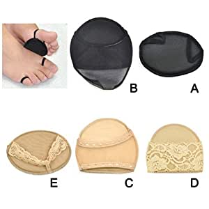 Beyondfashion Ladies High Heel Shoes Inserts Fore Foot Tip Toes Protector Insoles Pads Cushion - Style Available (Nude, A)