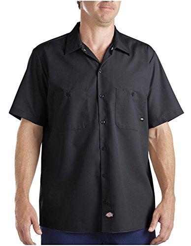 Dickies Herren Short Sleeve ls535bk Industrie Arbeit Shirt, schwarz, XXL, Schwarz, 1 - Seite-snap-shirt