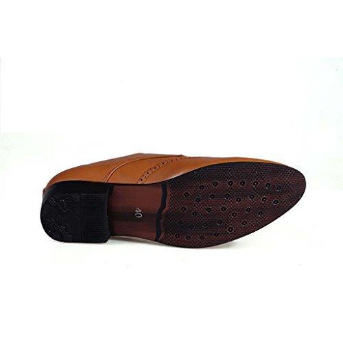 ZXCV Chaussures de plein air Chaussures à lacets décontractées pour hommes ( Couleur : Marron , taille : 39 ) Marron