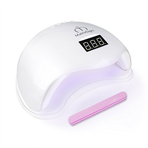 Professionelle Nagel-trockner (Nageltrockner mit UV Nagellampe, Morpilot professioneller Nagellacktrockner Nail Dryer, Lichthärtungsgerät mit Timer und Infrarot Sensor für Shellac und Gelnagellack-weiß (48W))