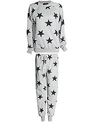 Fast Fashion - Survêtement Print Manches Longues Étoiles 2 Pièces Sweatshirt Pantalon - Femmes