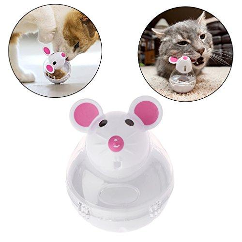 Longsw dispensador de Comida para Mascotas Perro Perro Gato Taza Drôle de plástico contenedor (Color Aleatorio)