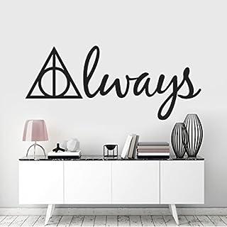 Harry Potter Deathly Hallows Symbol 'Always' Wall Art Sticker, Kids Room Decor, Removable Vinyl Decal