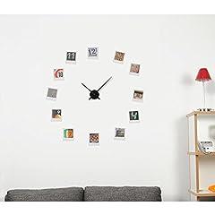 Idea Regalo - HAB & GUT -A01V13- Orologio a Muro Semplice, Senza Numeri - Big Time, Orologio di Alta qualità al Quarzo, Colore: Nero, Ø Spazio richiesto: 90 cm, Materiale: aluminio -Non è plastica-