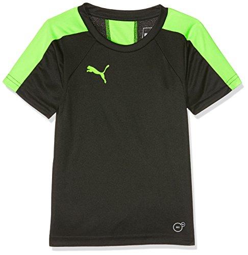 Puma Kinder IT Evotrg Jr Training Tee T-Shirt, Black-Green Gecko, 140