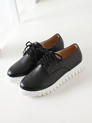les femmes disent chaussures plates de mode moins jusqu'? baskets style de toile Black