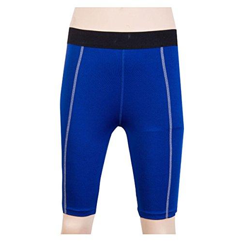 Nanxson(TM) Femmes Short/Pantalon Court Collant Élastique Pour Sport Fitness Yoga Vélo Danse YDKW0010 Bleu