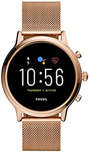 Fossil Gen 5 Julianna Rose Gold Stainless Steel Touchscreen Smartwatch with Speaker, Heart Rate, GPS, NFC, and