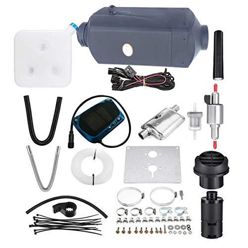 Riscaldatore Diesel, Riscaldatore 3kw Diesel 12VCon telecomando LCD monitor Air Heater 12v per Van Trucks Boats bus, rosso