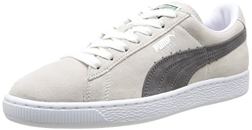 Puma Suede Classic - Baskets Mode - Mixte Adulte - Blanc (White/Steel Grey) - 44 EU
