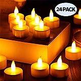 LED Kerzen, LED Teelichter LED Flammenlose Tealights, Nakeey Led Flameless Kerzen Teelichter mit CR2032 Batterien,Warmweiß Flackern Elektrische Kerze für Ostern,Party,Weihnachten,Hochzeit,Halloween