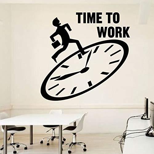zhuziji Büro Wand Zitat Arbeitszeit Büro Zitat Motivations Arbeitsbereich Schreibtisch Innenaufkleber Wandvinyl St50.4x50.4cm