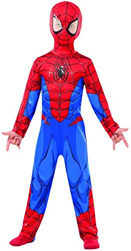 Rubie 's 640840 M Spiderman Marvel Spider-Man Classic Kind Kostüm, Jungen, M (5 - 6 Jahre/116cms) (Marvel Spiderman Kostüm)