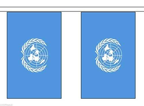United Nations Vereinten Nationen Polyester Flagge Wimpelkette 9 m (30 ') Wimpelkette mit 30 Flaggen