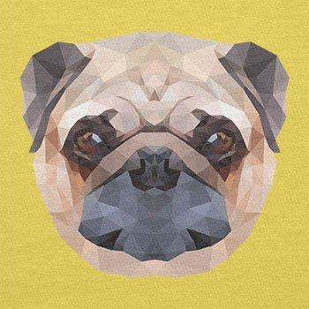 Texlab–Poly Pug Face–sacchetto di stoffa Gelb