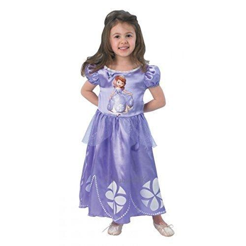 Disney Mädchen Prinzessin Sofia die Erste büchertag Woche Halloween Kostüm Kleid Outfit - Lila, Lila, 3-4 Years (Halloween-kostüme Sofia Die Erste)