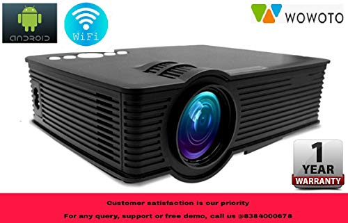 "WOWOTO I9 LED HD Android WiFi Projector - HD 1920 X 1080 – 120"" Display (1 Year Warranty)"