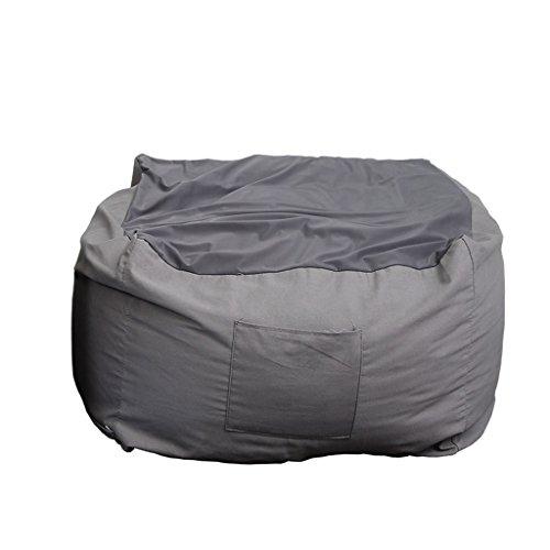 Les sacs d'haricot meubles en tissu simple de sofa de chaise longue mettent en sac la chaise 63 * 63 * 42cm (Couleur : D)