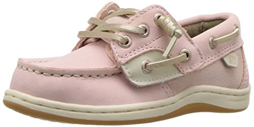 Sperry Girls' Songfish A/C Boat Shoe (Toddler/Little Kid),Blush,10 Wide US Toddler (Schuhe Sperrys Baby)
