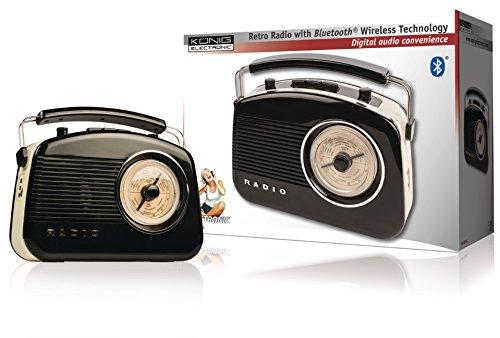 KOENIG Retro-Radio mit Bluetooth Funktion, auch als Lautsprecher verwendbar