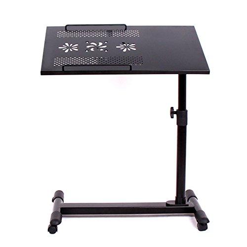 Tische ZHANGRONG- Home Bed Rotation Table Neigungseinstellung Mobile Computer Schreibtisch Studenten Wohnheim Metall Laptop Continental (Farbe : Schwarz)