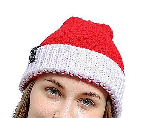 a Claus Strickmützen Unisex Party Festival Hüte One Size (Farbe : Rot, Größe : Einheitsgröße) ()