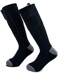 Yunhigh Calcetines térmicos para Hombres. Mujeres con Pilas, pies más Calientes. Clima frío