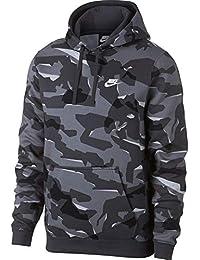 Nike M NSW Club Camo Hoodie PO BB - Sudadera, Hombre, (Cool Grey