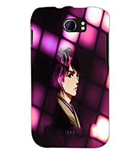PrintDhaba Serious Girl D-3285 Back Case Cover for MICROMAX A110Q CANVAS 2 PLUS (Multi-Coloured)