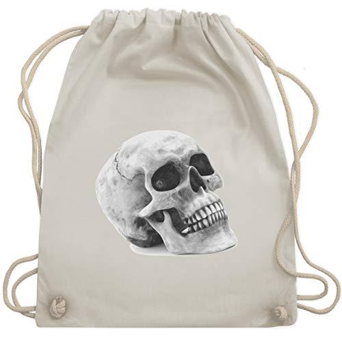- Totenkopf Skull - Unisize - Naturweiß - WM110 - Turnbeutel & Gym Bag ()