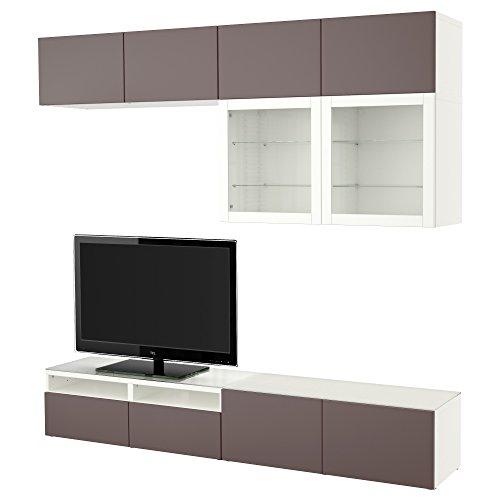 Ikea Besta Tv Storage Combinationglass Doors Whitevalviken Dark