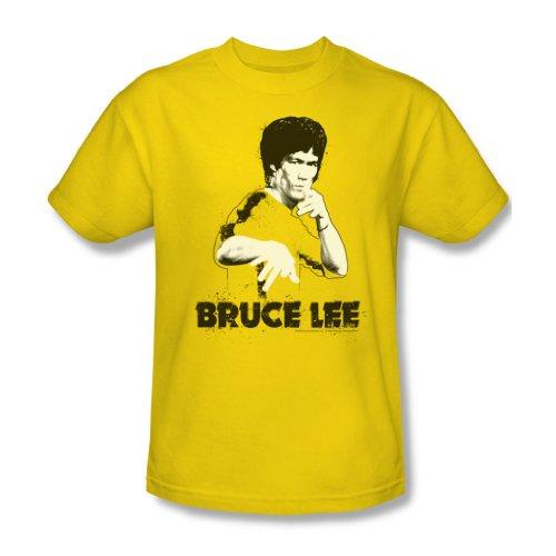 Bruce Lee - Gelbe Splatter Suit Adult T-Shirt in Gelb Yellow