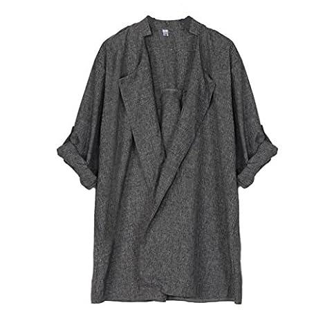 Bluestercool Trench Manteau Femme Décontractée Longue Cardigan Veste Plus Size