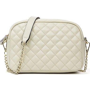 HMILY neue Frauen aus echtem Leder Messenger Bag Plaid damen Crossbody-tasche Kette trendige Quer Shopping täglich Schultertasche Deep Blue