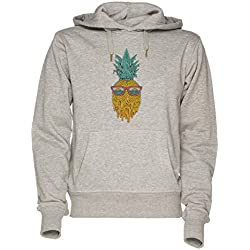 Jergley Piña Verano Unisexo Gris Sudadera con Capucha Hombre Mujer Tamaño XL | Hoodie For Men and Women Size XL