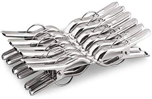 kcl craft Stainless Steel Multipurpose Sturdy Clothes Hanging Clips, Clothes Drying Clips, Hanging Clothes Pegs, Clothespin,Rust Proof -Set of 24 Clips