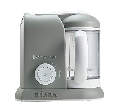 BEABA Babycook Solo 4 in 1 Steam Cooker and Blender, Grey