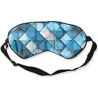 Comfortable Sleep Eyes Masks Blue Geometric Printed Sleeping Mask For Travelling, Night Noon Nap, Mediation Or... preisvergleich bei billige-tabletten.eu