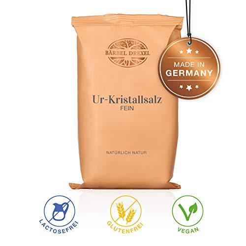 BÄRBEL DREXEL Ur-Kristallsalz FEIN (750g) 100% Vegane Herstellung Deutschland Tiefebenen Rand Himalaya Salz - Synthetische Meersalz