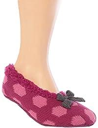 Jennifer Anderton - Mujer zapatillas de graves calcetines cortos invisibles ABS antideslizante / derrape, prevención de caídas