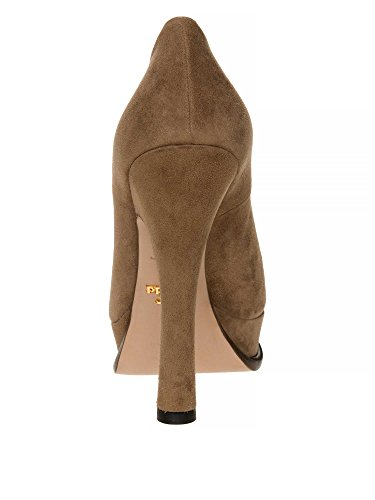 PRADA Femmes Escarpins cuir véritable Marron