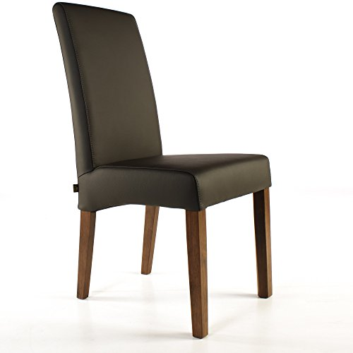 Lederstuhl Bambi Rindsleder Braun Nussbaum Lederstühle Stühle Stuhl NEU (Braun Nussbaum-leder)