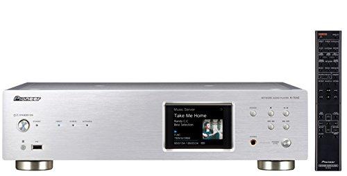 Pioneer N-70AE(S) Reproductor de red (Wifi, Bluetooth, streaming, Apps de música, internet radio, audio de alta resolución, pantalla LCD a color, panel frontal de aluminio), plateado