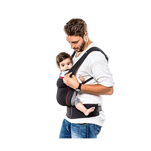 Fisher Price Hauck Close to me Ergonomic Baby Carrier New-born, Front, Breathable, Adjustable, for Infants from Birth up to 12 kg, Lumbar Support Belt, Black Fisher-Price  4